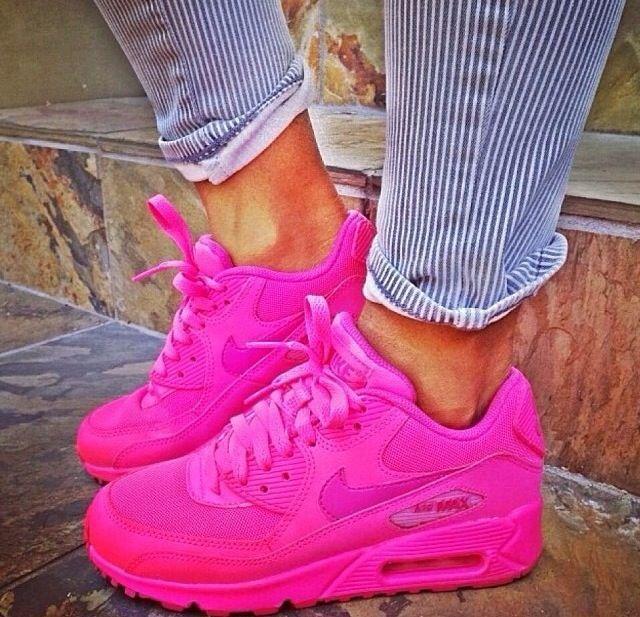 air max 90 rosa fluo