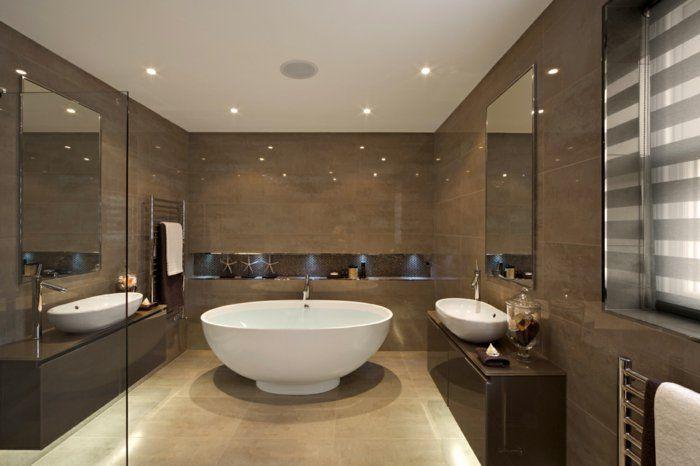 jolie salle de bain beige de luxe