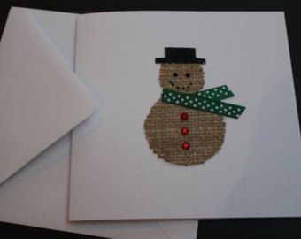 Handmade Snowman Luxury Christmas Greeting by DesignsByMistyBlue
