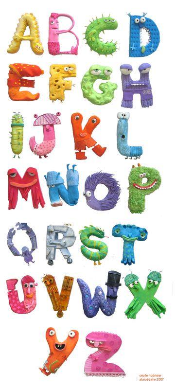 monsters alphabet