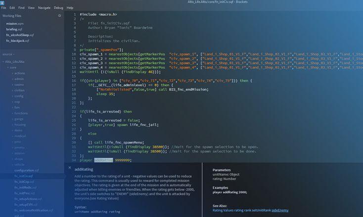 Brackets - Free & Open Source Adobe Code Editor