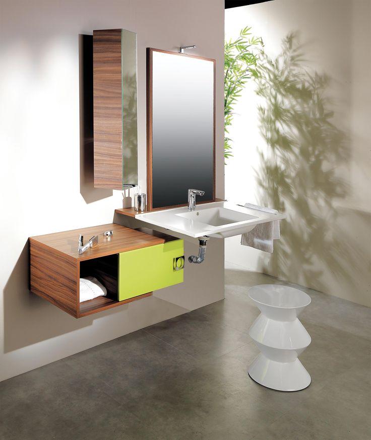 Meuble de salle de bain design adapt aux personnes mobilit r duite adap - Salle de bain tropicale ...