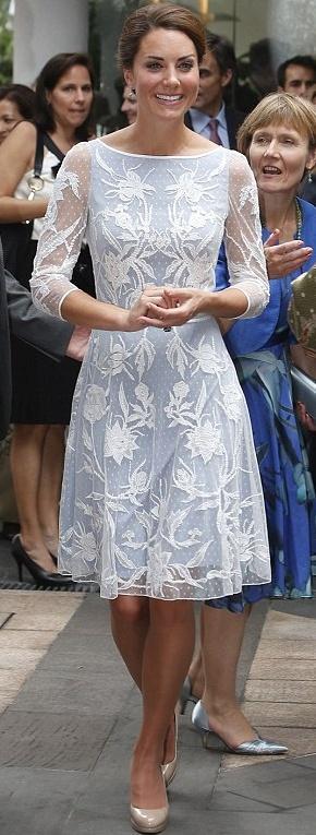 In Alice Temperley -- lovely bridal shower dress or rehearsal dinner dress