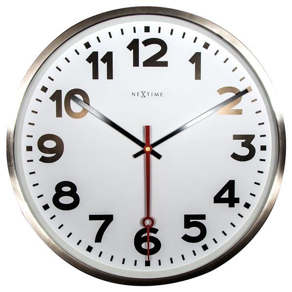 Nástenné hodiny hodiny 3127ar Nextime Super Station Number 55cm