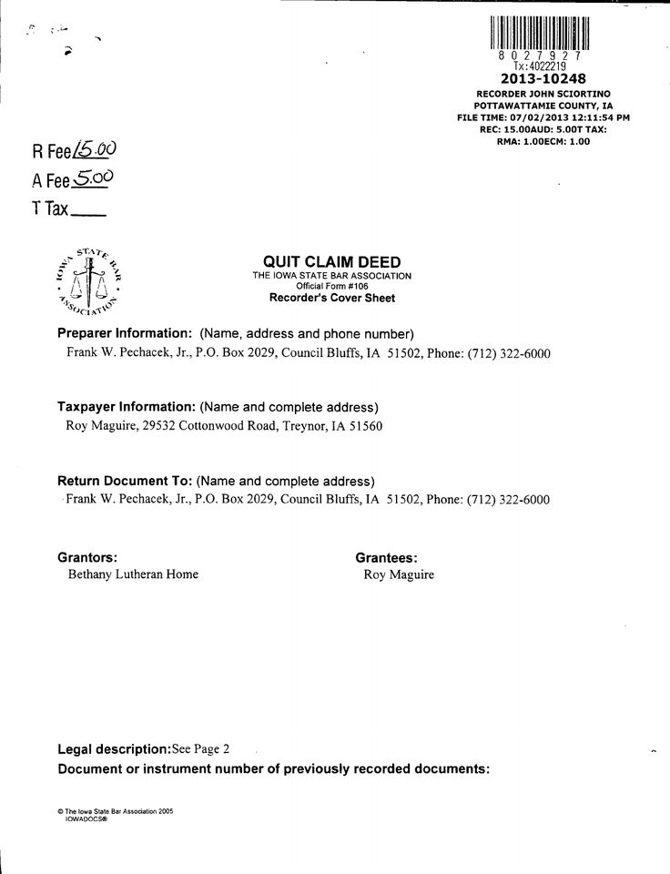 Printable Quitclaim Deed - Free Printable Pdf Download