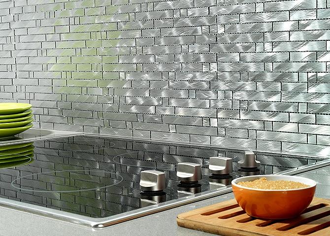 Mallas Aluminio para los muros de tu cocina ;) #Cocina #Estilos #Kitchen #Mosaico