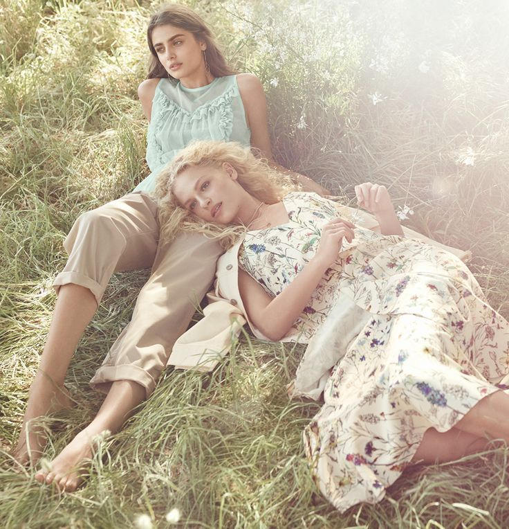 H&M presents Spring Fashion, a collection featuring everything from the floral dress to the beige blouse, green skirt and polka dot dress.