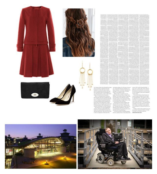 """""""Embargoed Visit to the Department of Applied Mathematics and Theoretical Physics (DAMTP) at the University of Cambridge to meet Stephen Hawking"""" by theduchessroyal ❤ liked on Polyvore featuring Rupert Sanderson, Urban Outfitters and Viktor & Rolf"""
