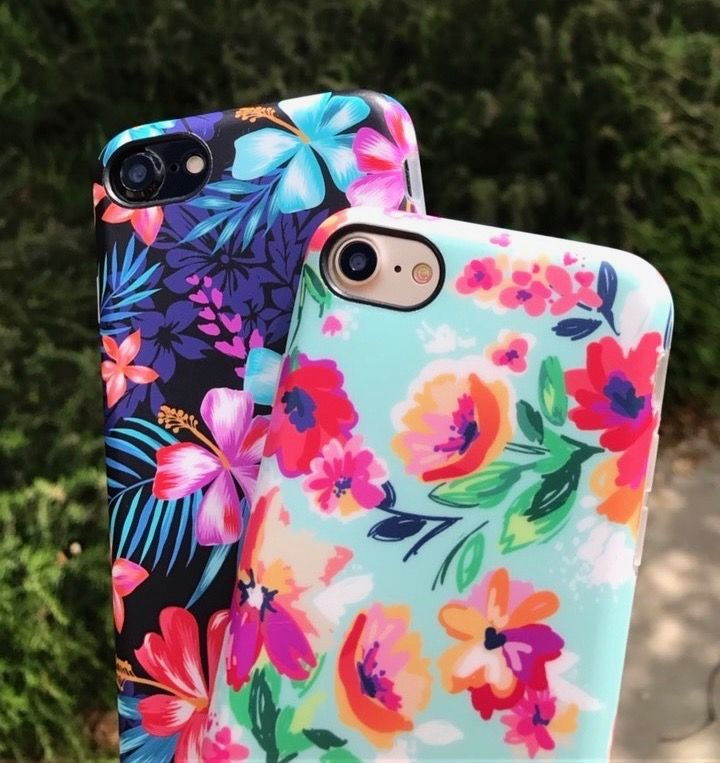 Saturday morning vibes Mint Paradiso & Lilac Kiss Floral Case for iPhone 7 & iPh…