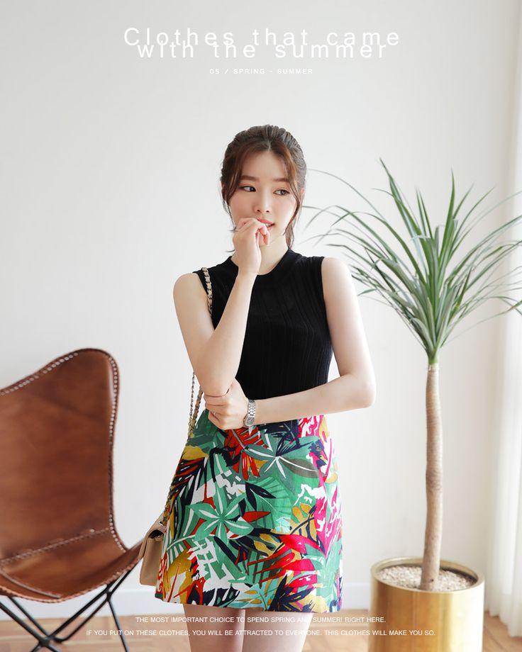【愛らしいムードを楽しませてくれるAラインミニスカート】。《ドラマ着用》フローラルパターンAラインミニスカート・全2色・t47556 レディース【sk】【台形スカート 花柄 フラワー リネン混】