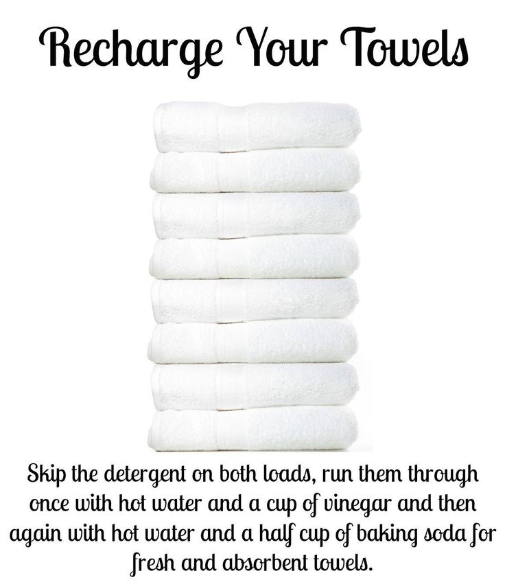 Clean towels..I will definitely try this!