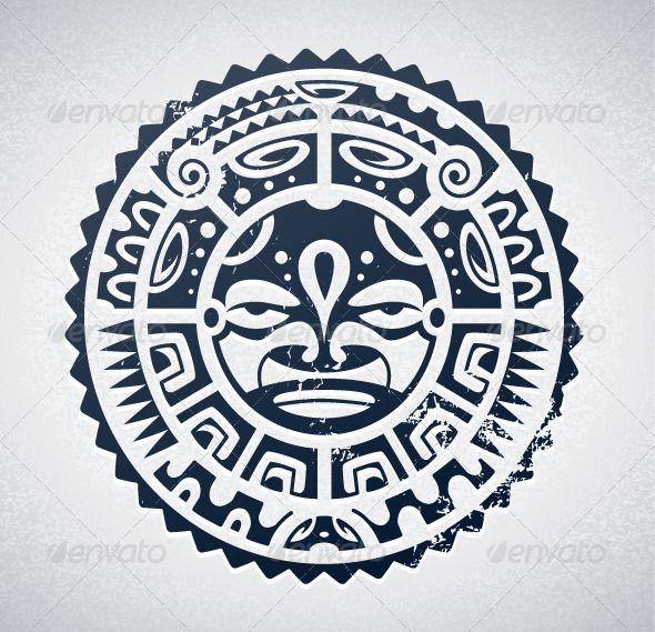 Maori sun tattoo design