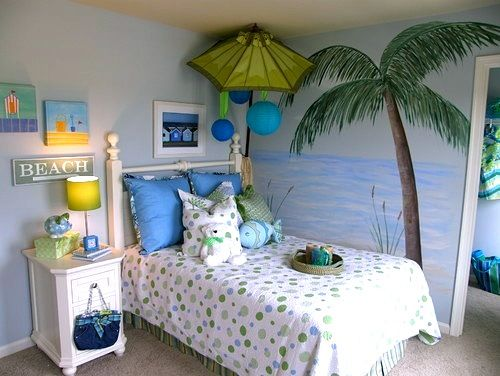 Contemporary Kids By Anita Roll Murals Cool Beach Themed Room