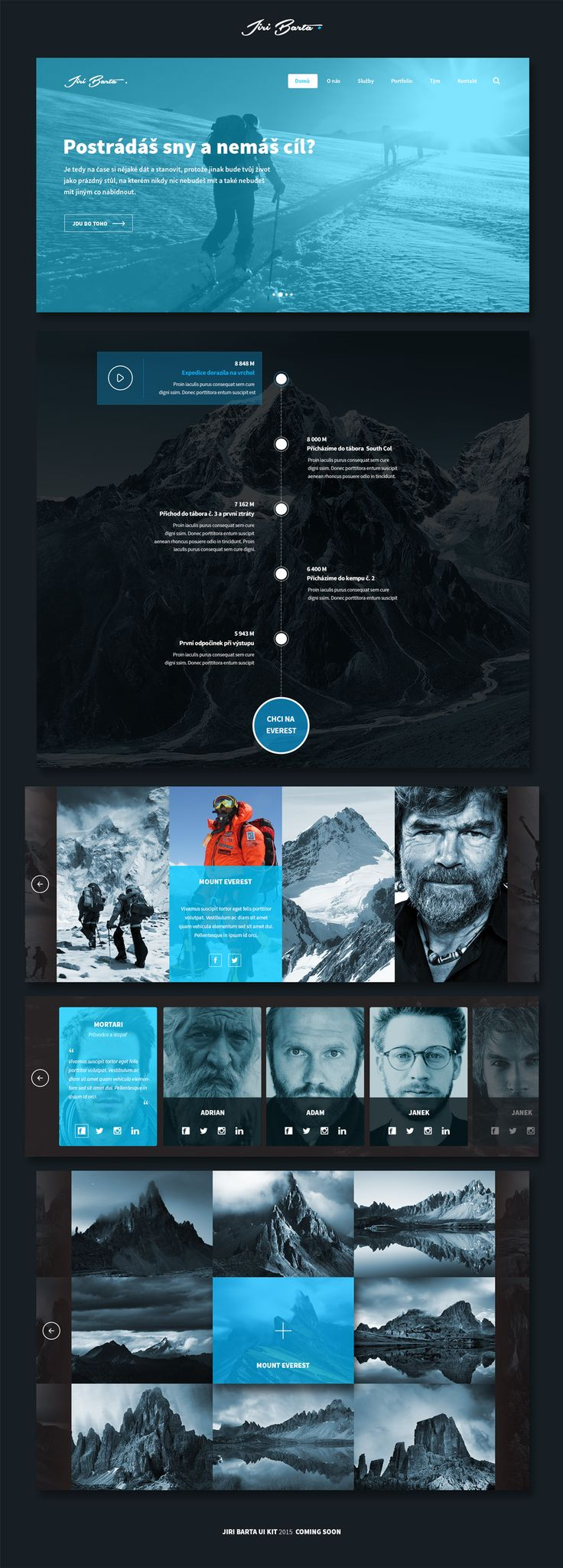 FREE Mountaineer UI KIT 2015
