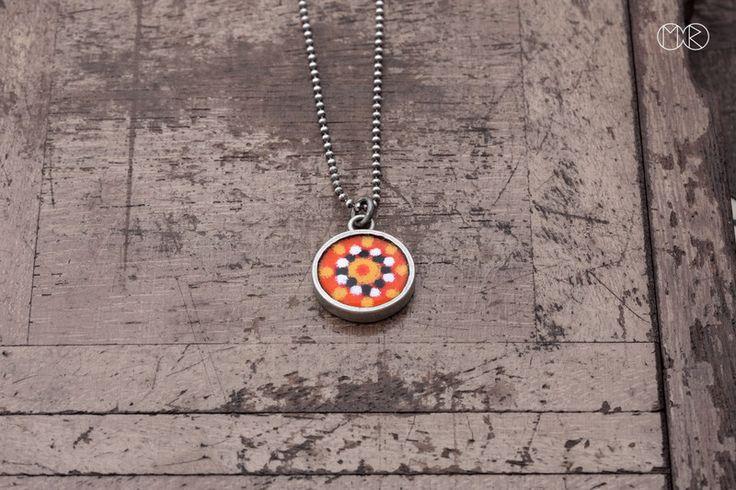 Halskette silber mit emaille SIMPLE 23 von MartaRudnicka auf DaWanda.com