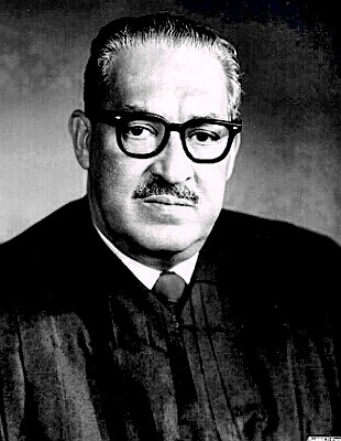 [1967 - Thurgood Marshall sworn in as   first African-American Supreme Court justice]