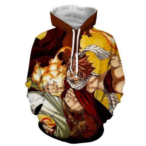 Fairy Tail Natsu Dragneel Fire Fist Anime Unisex Tshirt T-Shirt Tee ALL SIZES
