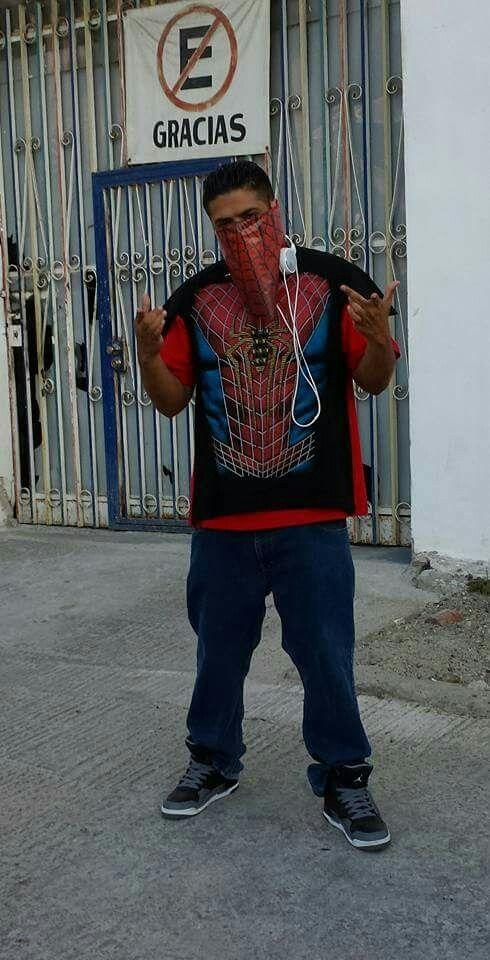Dj ghetto me as spiderman when i went to Tijuana Comic Con