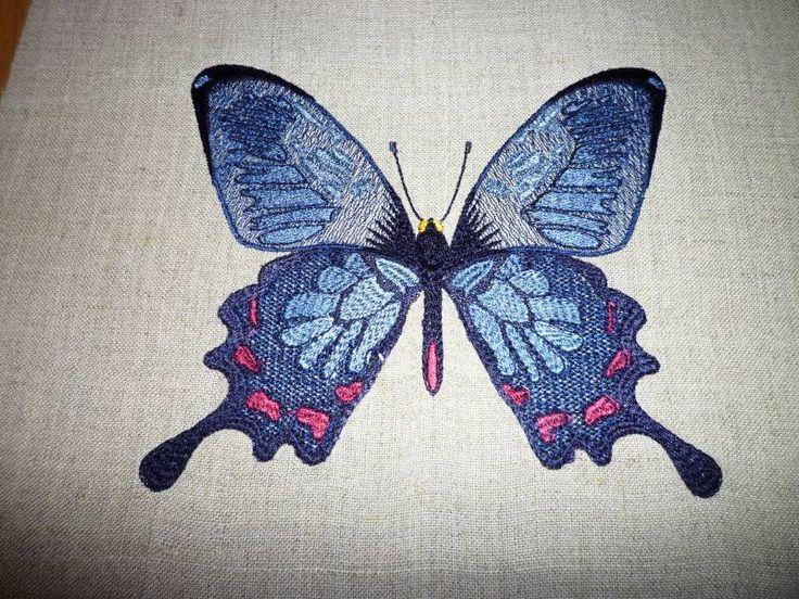 бабочка бесплатный дизайн машинной вышивки