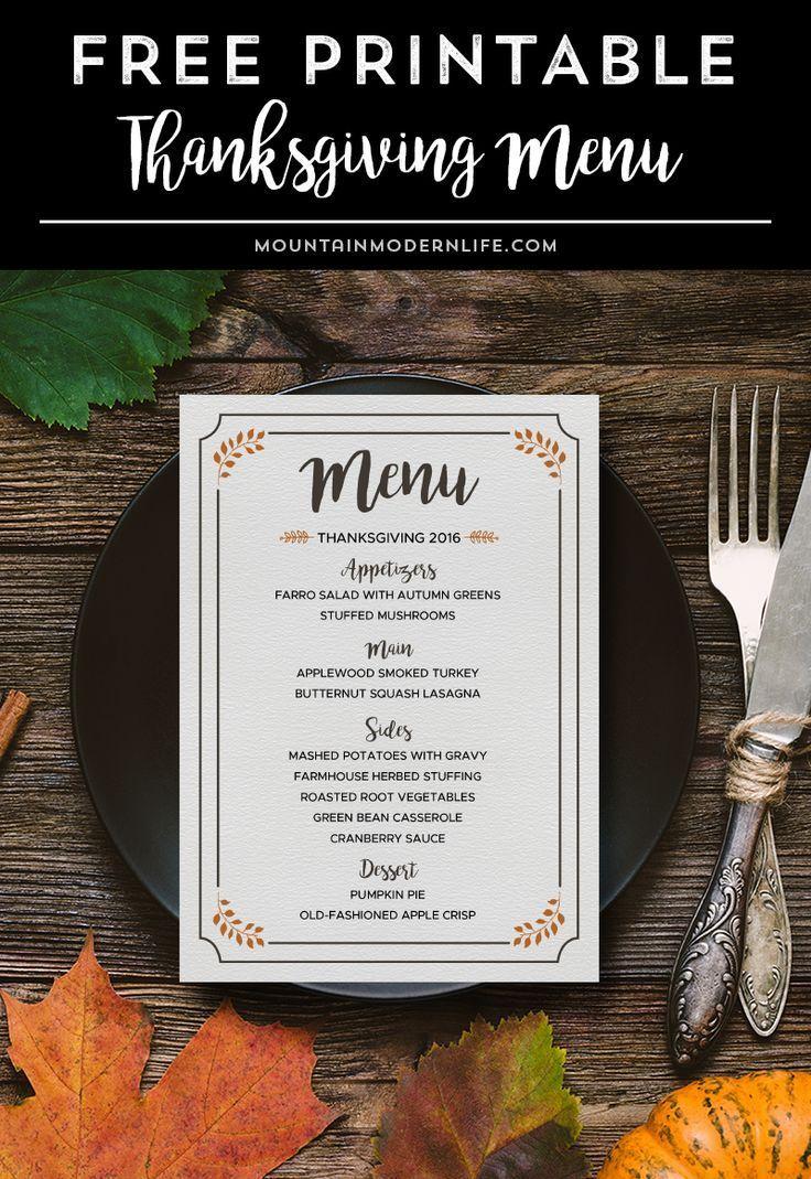 Free Printable Thanksgiving Menu In 2020 Thanksgiving Menu Printable Thanksgiving Menu Thanksgiving Dinner Menu