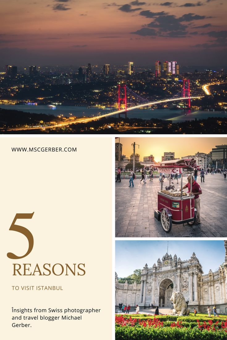 """Istanbul is one of the most beautiful cities around the world. Located on both the European and the Asian continent and offering some tremendous insights into 5 different empires I definitely recommend you to visit Turkey's biggest city. To read """"5 reasons to visit Istanbul"""" check out my blog."""