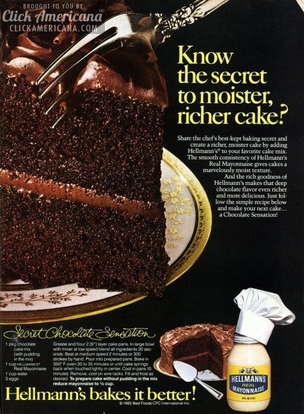Secret Chocolate Sensation cake recipe
