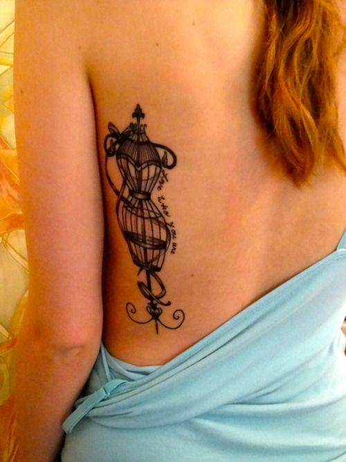 Tattoo Art / vintage dress frame tattoo