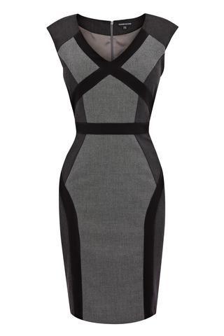 BLACK MULTI PANEL DRESS