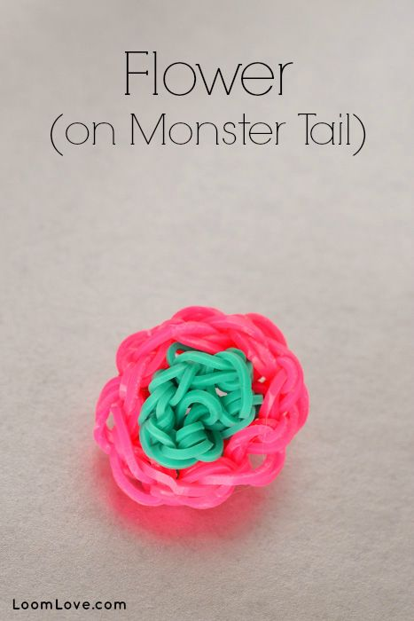 How To Make A Flower On The Rainbow Loom Monster Tail