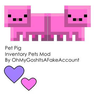 Papercraft Pet Pig (Inventory Pets Mod) (40th Follower Special)