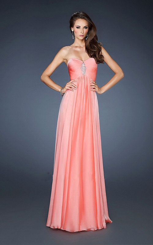 70 best long prom dresses images on Pinterest | Party wear dresses ...