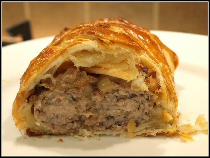 Pork sausagemeat and Apple Plait