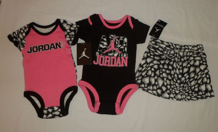NWT Jordan Shoes Logo Baby Girls Romper Bodysuits Skirt Outfit Set SZ 3-6M Lot #Jordan #Everyday