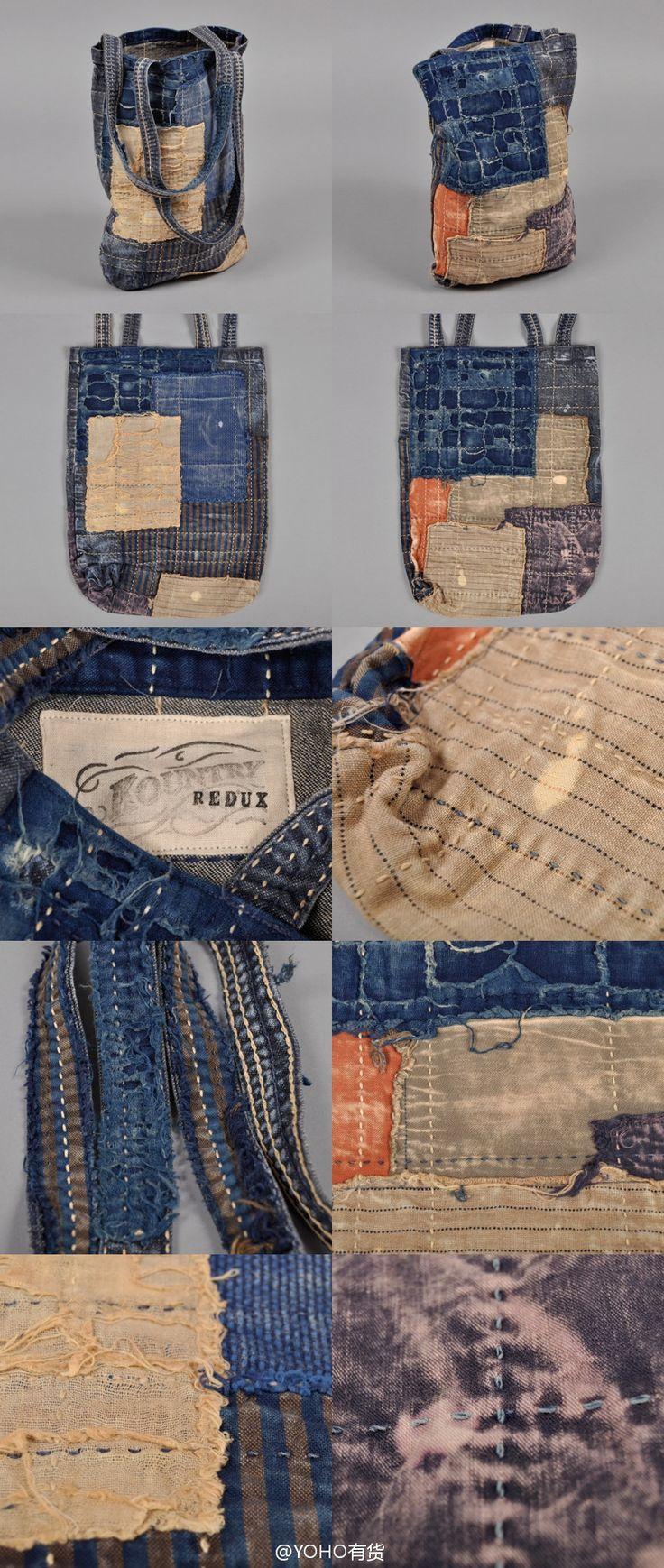 KAPITAL Kountry: Boro Sashiko Tote Bag #borobag #boro