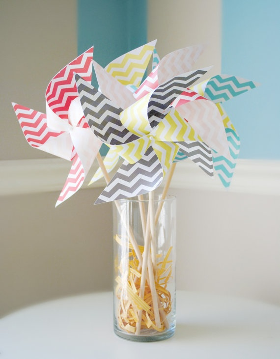 Chevron pinwheels