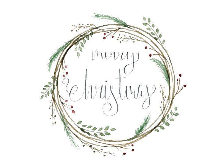 Christmas Wreath Clipart Hollyhock Clip Art Watercolor Etsy Wreath Clip Art Christmas Wreath Clipart Christmas Clipart