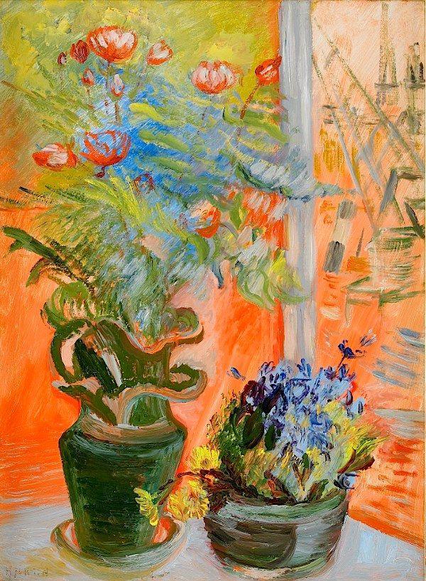 """Sigrid Hjertén _ """"Flowers in the Window"""""""