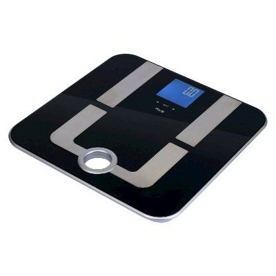 American Weigh Scales Mercury Pro Body Fat Scale, Black/Silver