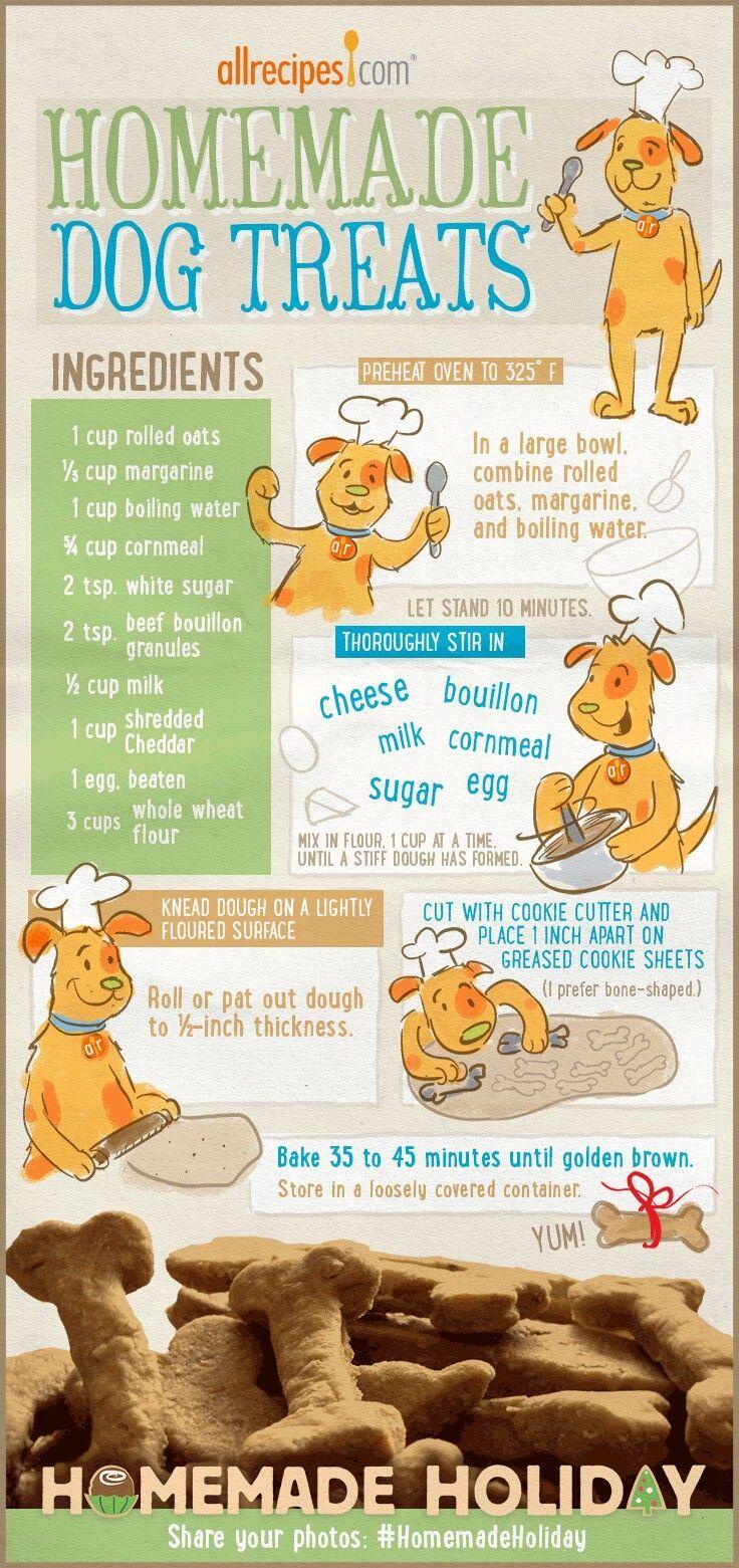 Honden koekjes zelf maken.