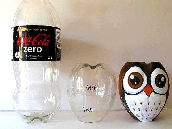 buho botella plastica