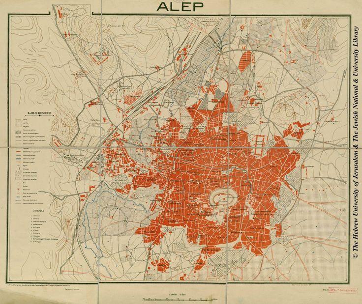1929 Map of Aleppo, by Bureau Topographique des Troupes Françaises du Levant