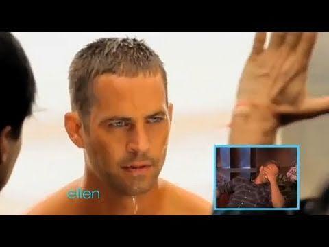 Paul Walker Heats Things Up! ~ Paul Walker at the Ellen Show ~ Video