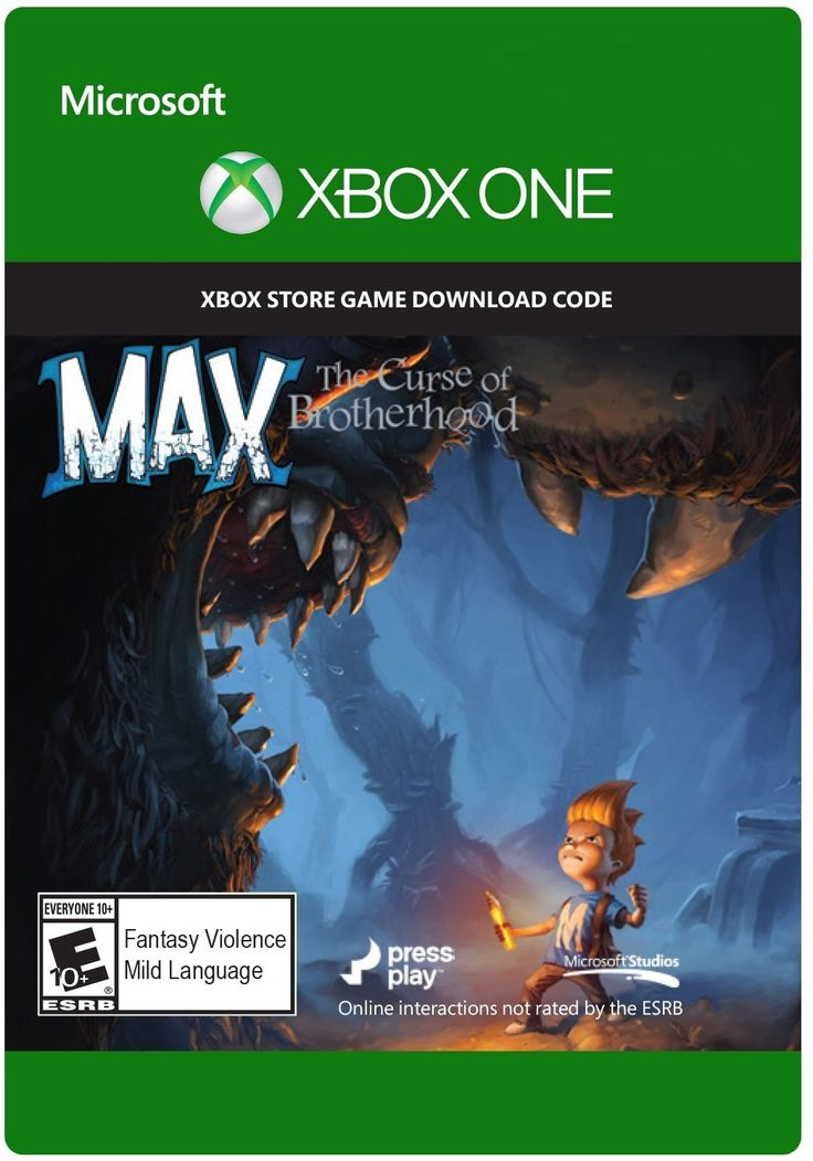 Max The Curse Of Brotherhood Game Cover Xbox One Xbox Xbox One Xbox 360 For Sale