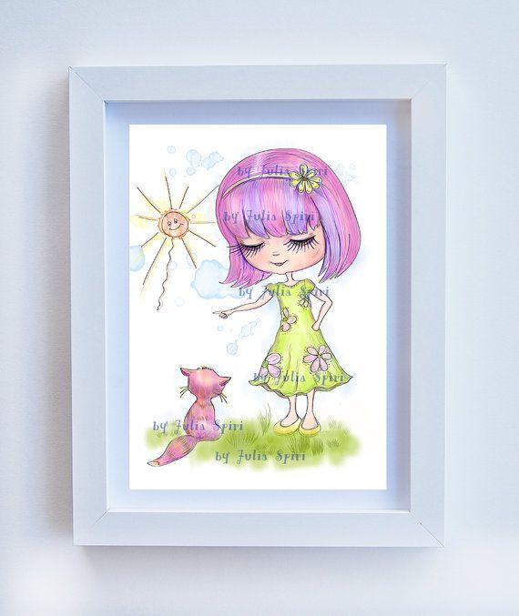 Children Decor Children's Print Kids Decor Childrens by JuliaSpiri