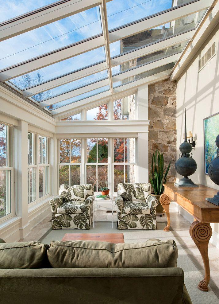 Love this sunroom off breezeway where deck is. Add folding doors.