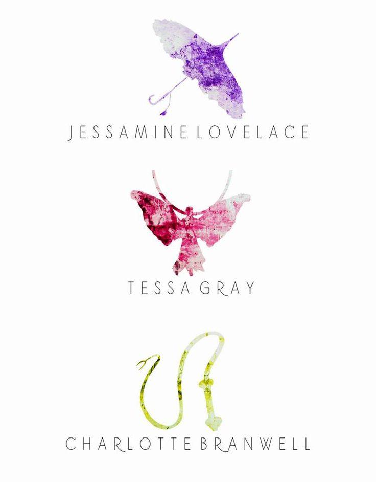 The Infernal Devices Watercolor   Jessamine Lovelace   Tessa Gray   Charlotte Branwell