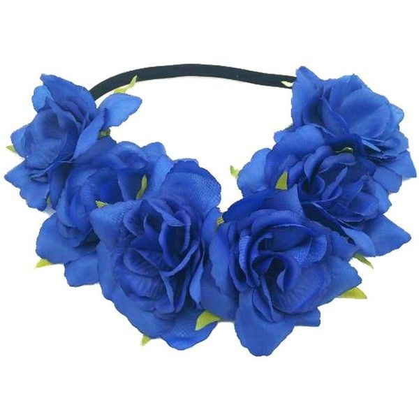 Floral Fall Rose Holiday Christmas Crown Festival Headbands Hippie... ($8.90) ❤ liked on Polyvore featuring accessories, hair accessories, christmas headbands, hippie headbands, flower crown headband, flower crowns and rose flower headband