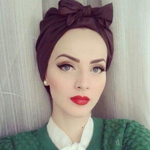 Maquillaje, hermoso, color, labios, rojo