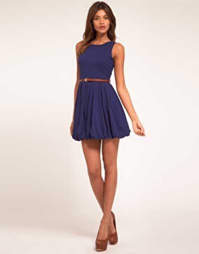 0e38f1c49 vestidos simples azul