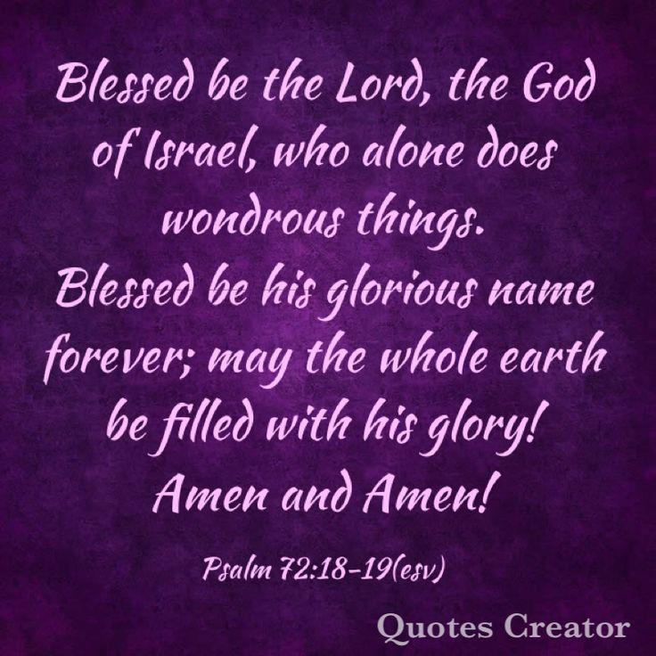 Psalm 72:18-19